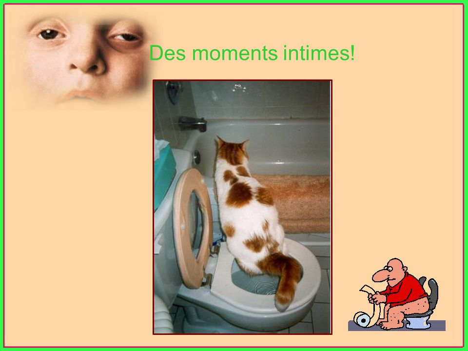 Des moments intimes!