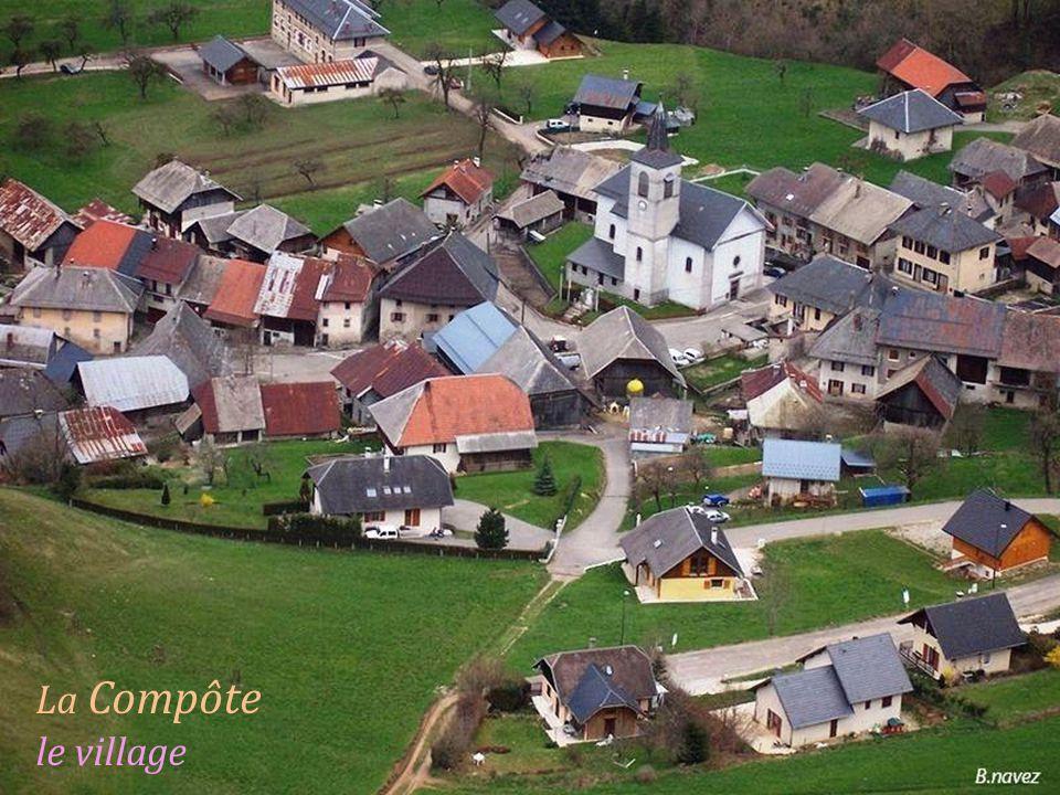 Jarsy le village au pied de. la Dent de Pleuven