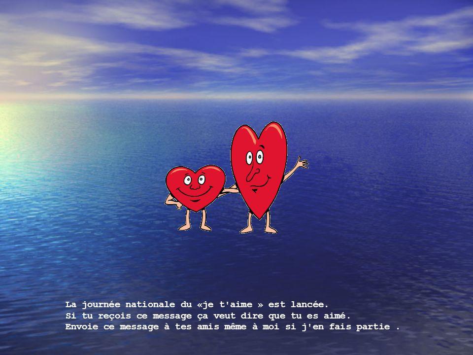 La journée nationale du «je t aime » est lancée.