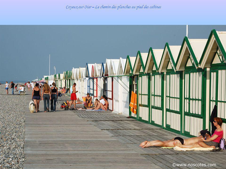 Cayeux –sur-Mer – La plage de galets à marée haute