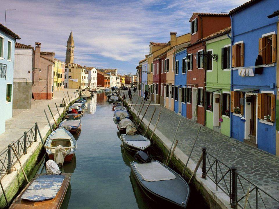 Burano est une île dactivités maritimes importantes.