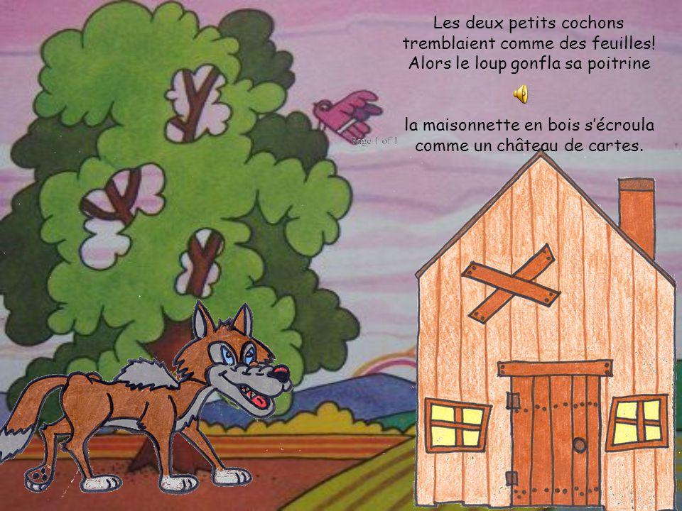 OUVREZ! Mais le loup, affamé et furieux, commença à donner des coups de poings contre la porte.