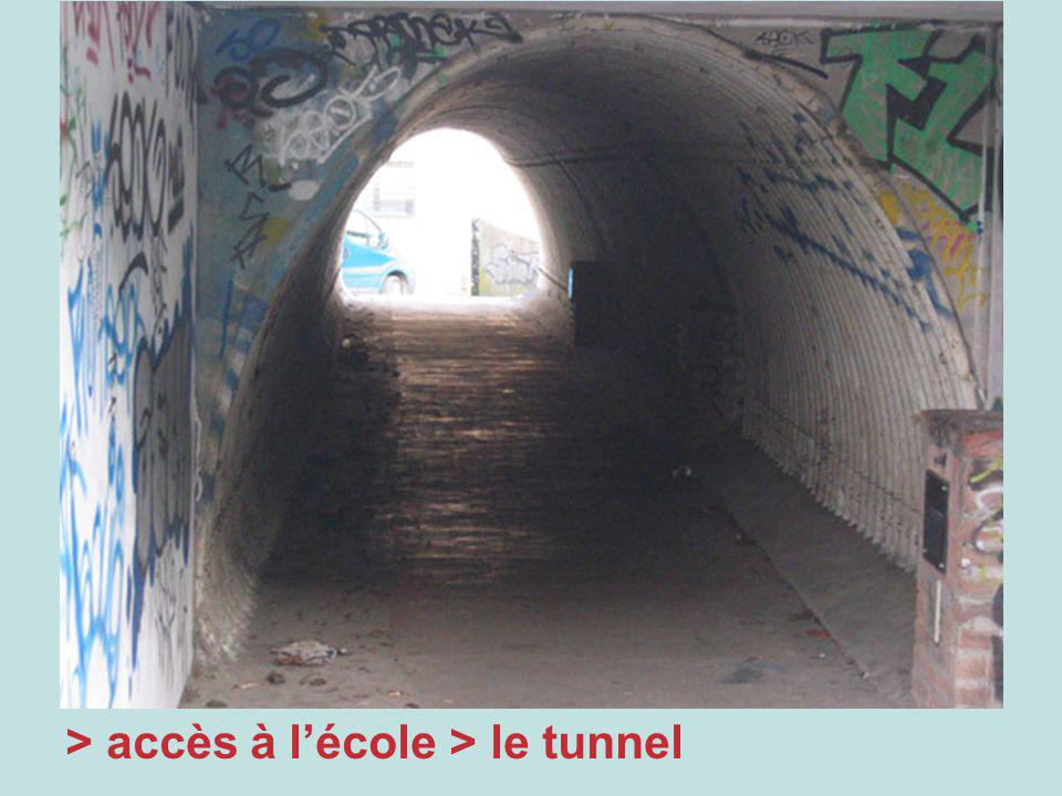 > accès à lécole > le tunnel