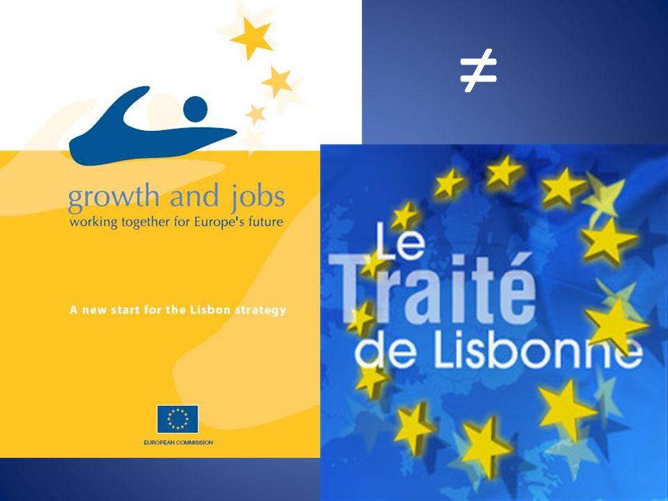 Conclusions de la Présidence Conseil européen de Lisbonne (23-24 mars 2000) EMPLOI, RÉFORME ÉCONOMIQUE ET COHÉSION SOCIALE UN OBJECTIF STRATÉGIQUE POUR LA DÉCENNIE À VENIR Le nouveau défi Les atouts et les points faibles de lUnion Ligne d action § 5.
