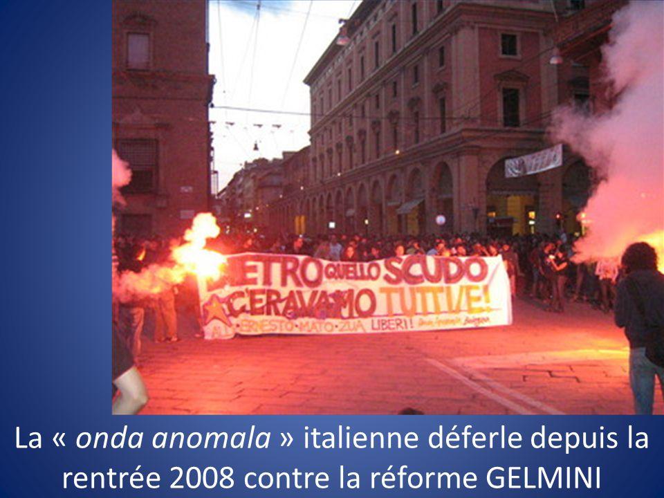 La « onda anomala » italienne déferle depuis la rentrée 2008 contre la réforme GELMINI