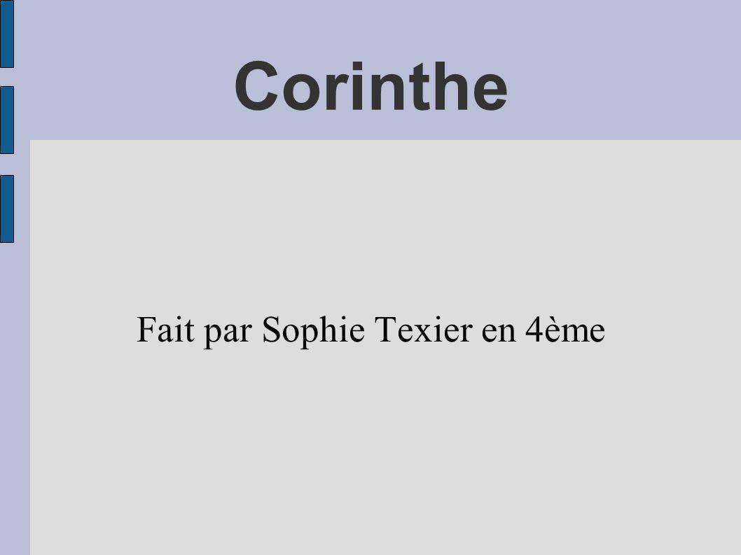 Corinthe Fait par Sophie Texier en 4ème