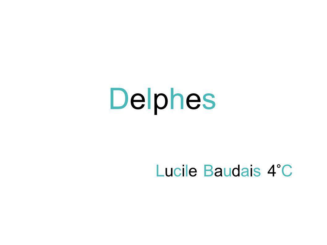Delphes Lucile Baudais 4°C