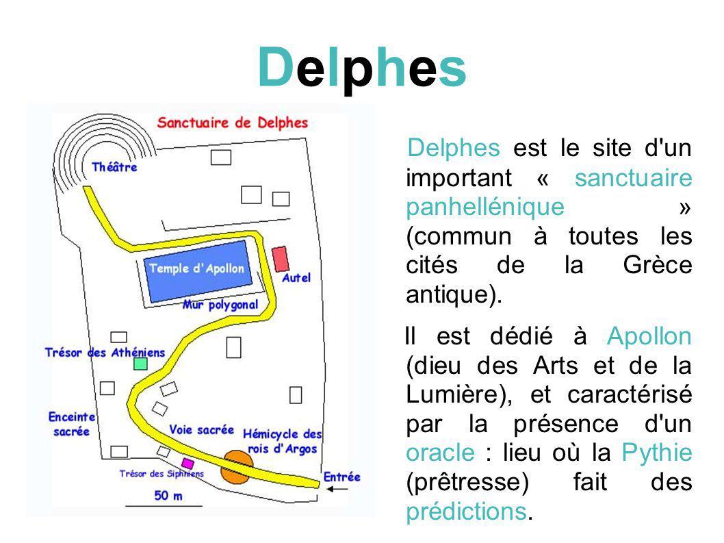 DelphesDelphes Delphes est le site d un important « sanctuaire panhellénique » (commun à toutes les cités de la Grèce antique).