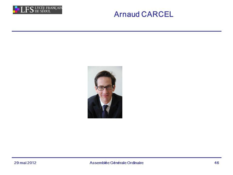 Arnaud CARCEL 29 mai 2012Assemblée Générale Ordinaire46