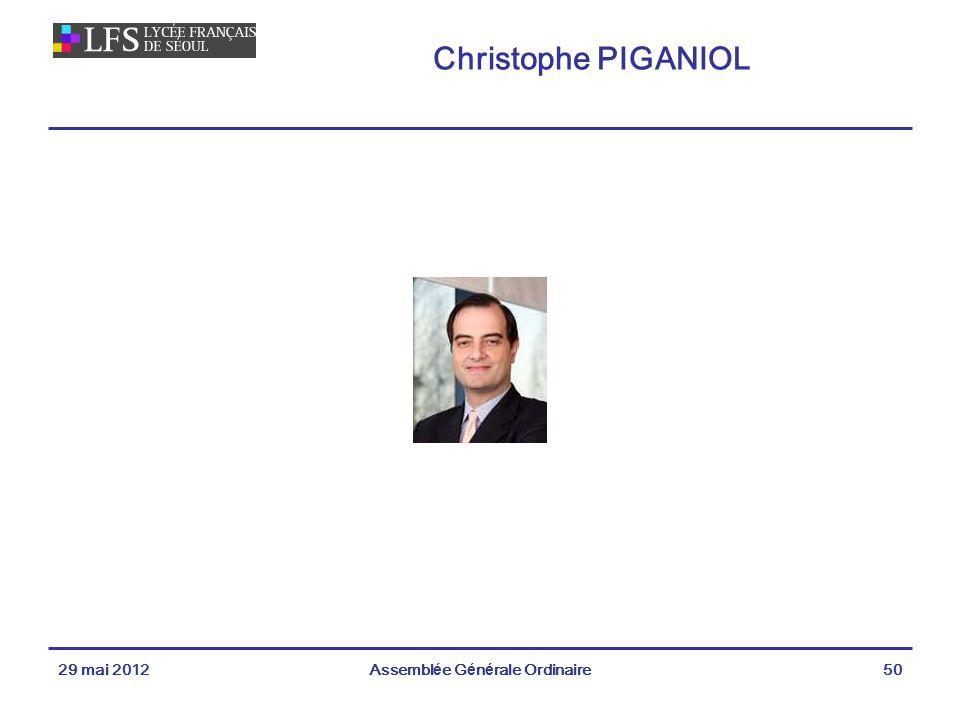 Christophe PIGANIOL 29 mai 2012Assemblée Générale Ordinaire50