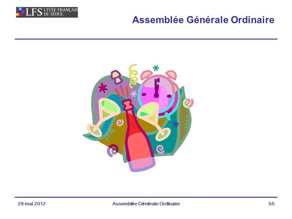 29 mai 2012Assemblée Générale Ordinaire55 Assemblée Générale Ordinaire