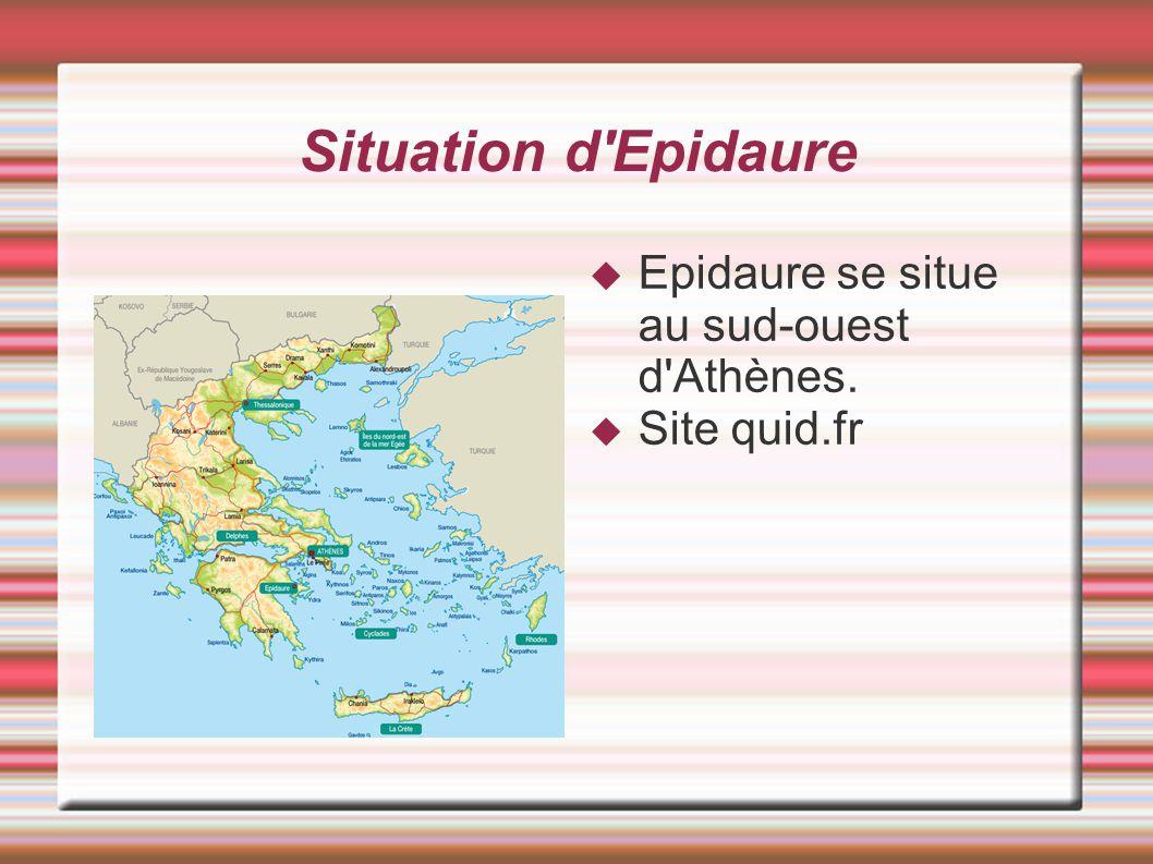Situation d'Epidaure Epidaure se situe au sud-ouest d'Athènes. Site quid.fr