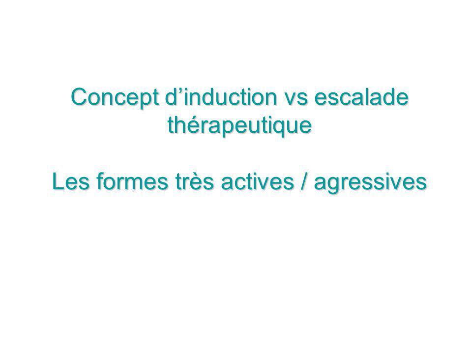 Concept dinduction vs escalade thérapeutique Les formes très actives / agressives