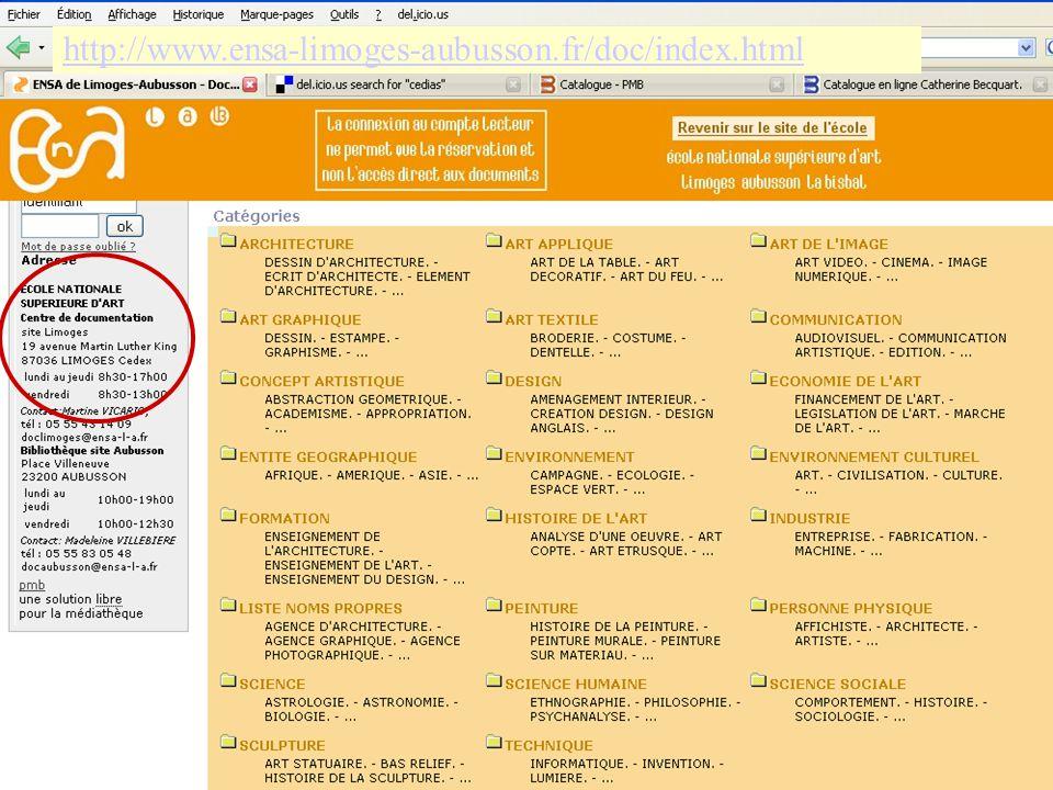 39 http://www.ensa-limoges-aubusson.fr/doc/index.html