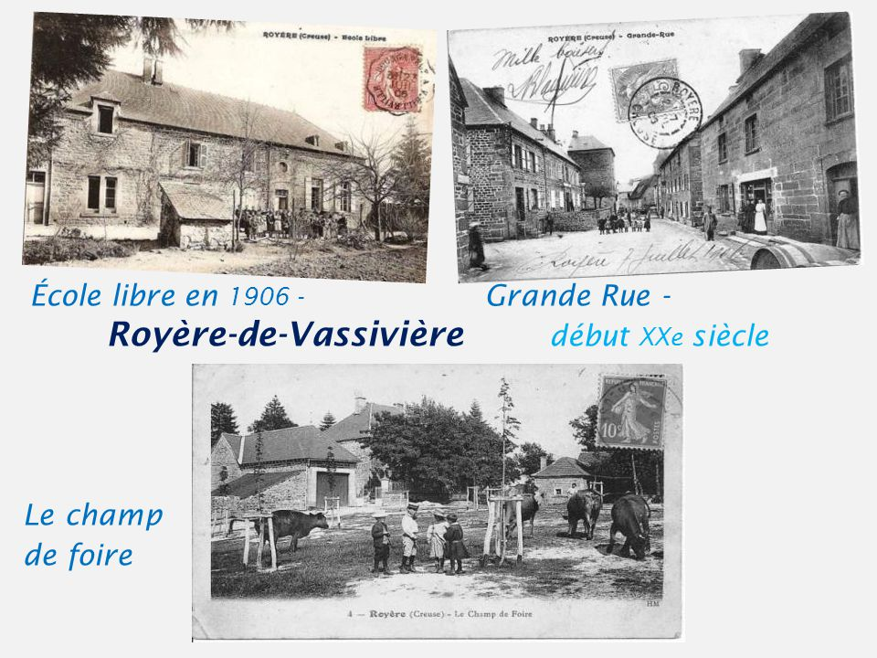 Vue Générale Royère-de-Vassivière début XXe siècle. - La p lace de la Mayade -