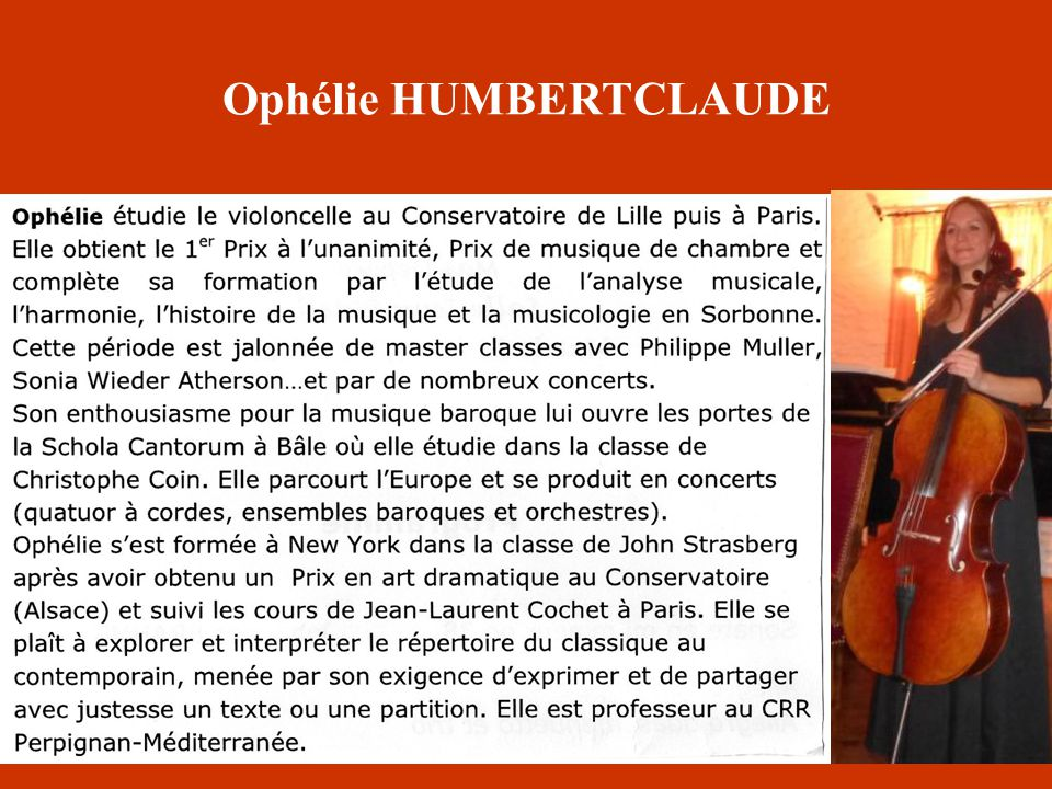 Ophélie HUMBERTCLAUDE