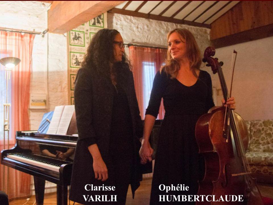 Clarisse VARILH Ophélie HUMBERTCLAUDE
