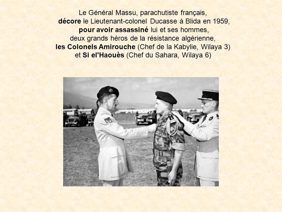 Le Général Massu avec Max Lejeune en Mars 1957