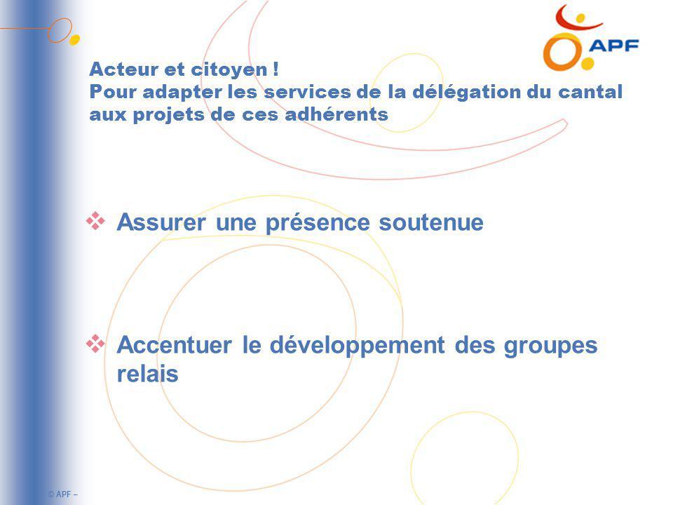 © APF – Acteur et citoyen .