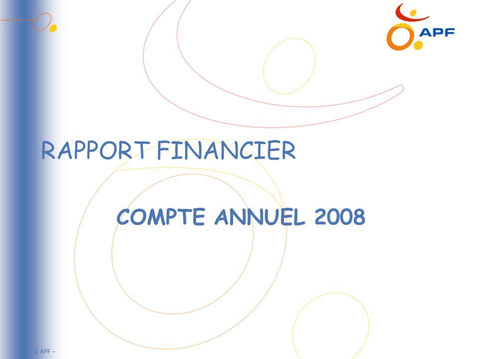 © APF – RAPPORT FINANCIER COMPTE ANNUEL 2008