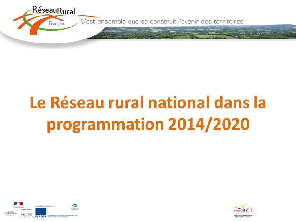 Le Réseau rural national dans la programmation 2014/2020