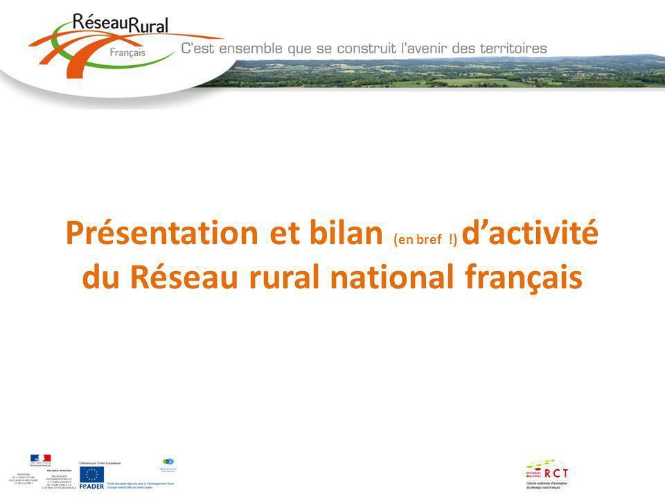 Présentation et bilan (en bref !) dactivité du Réseau rural national français