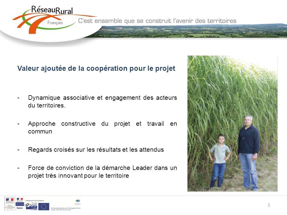 3 Valeur ajoutée de la coopération pour le projet -Dynamique associative et engagement des acteurs du territoires.