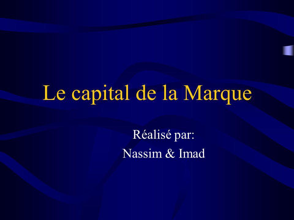 Le capital de la Marque Réalisé par: Nassim & Imad