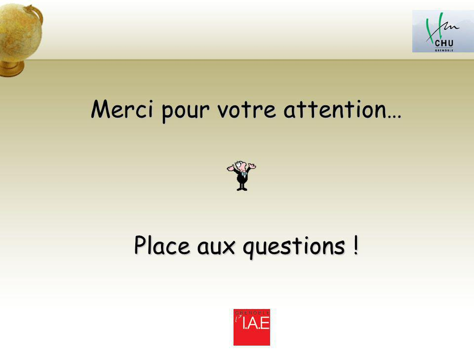 Merci pour votre attention… Place aux questions !