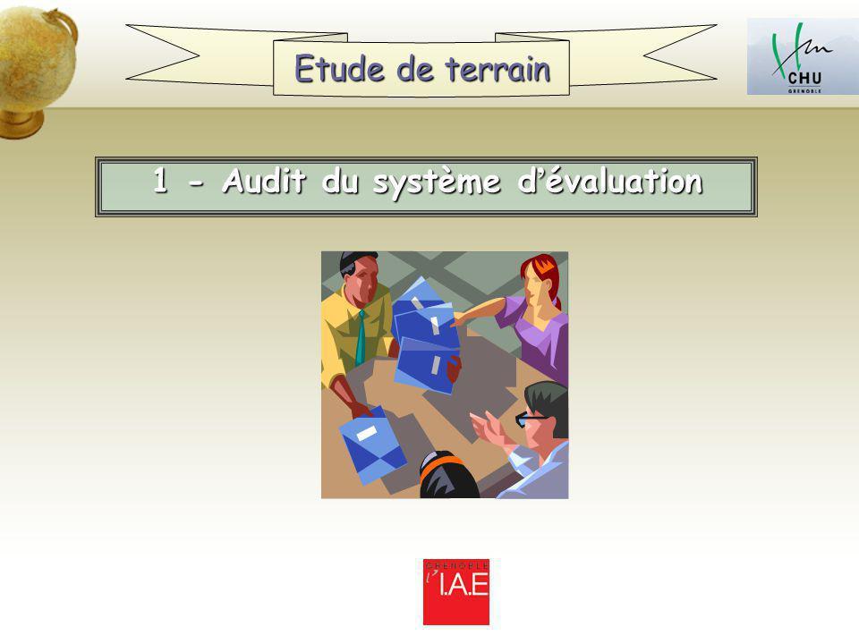 1 - Audit du système d évaluation Etude de terrain