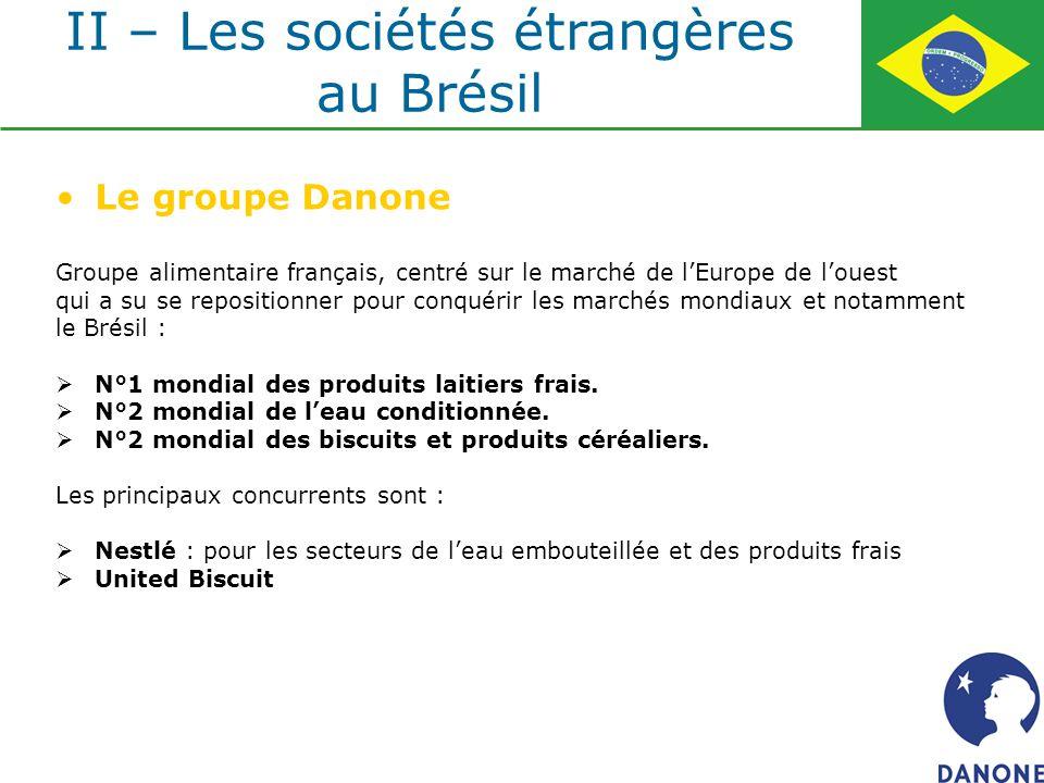 Le groupe Danone Groupe alimentaire français, centré sur le marché de lEurope de louest qui a su se repositionner pour conquérir les marchés mondiaux