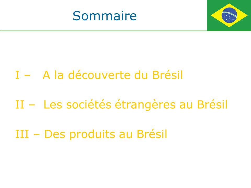 La République fédérative du Brésil est le pays le plus peuplé d Amérique latine donc un enjeu commercial incontournable pour les entreprises internationales.