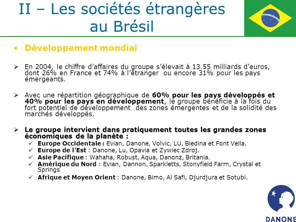 Développement mondial En 2004, le chiffre daffaires du groupe sélevait à 13.55 milliards deuros, dont 26% en France et 74% à létranger ou encore 31% p