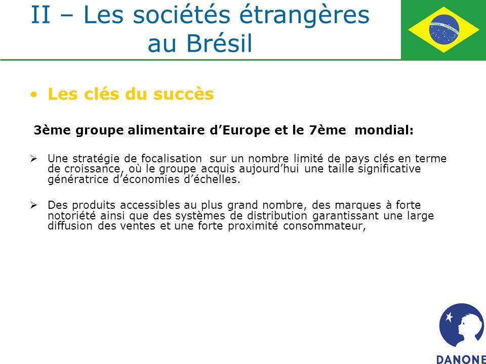Les clés du succès 3ème groupe alimentaire dEurope et le 7ème mondial: Une stratégie de focalisation sur un nombre limité de pays clés en terme de cro