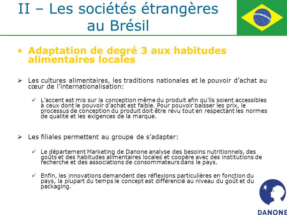 Adaptation de degré 3 aux habitudes alimentaires locales Les cultures alimentaires, les traditions nationales et le pouvoir dachat au cœur de linterna