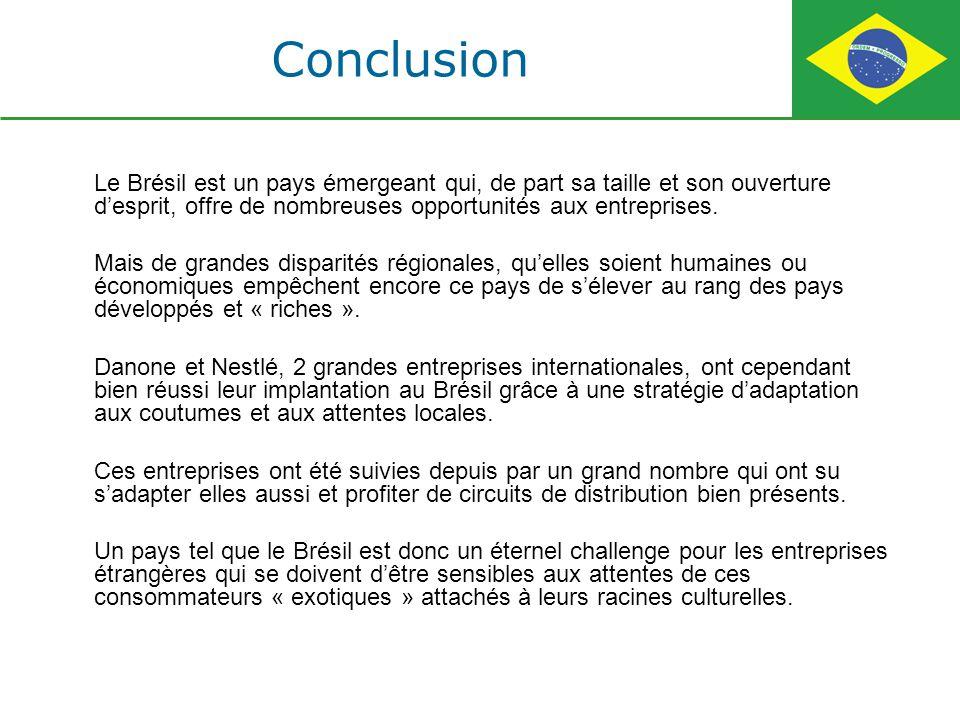 Le Brésil est un pays émergeant qui, de part sa taille et son ouverture desprit, offre de nombreuses opportunités aux entreprises. Mais de grandes dis