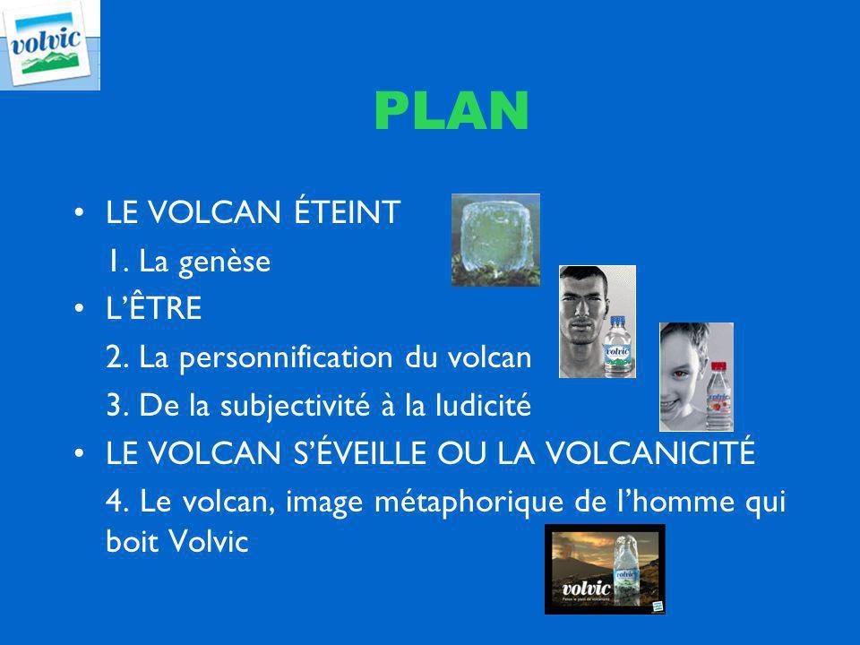 PLAN LE VOLCAN ÉTEINT 1. La genèse LÊTRE 2. La personnification du volcan 3. De la subjectivité à la ludicité LE VOLCAN SÉVEILLE OU LA VOLCANICITÉ 4.