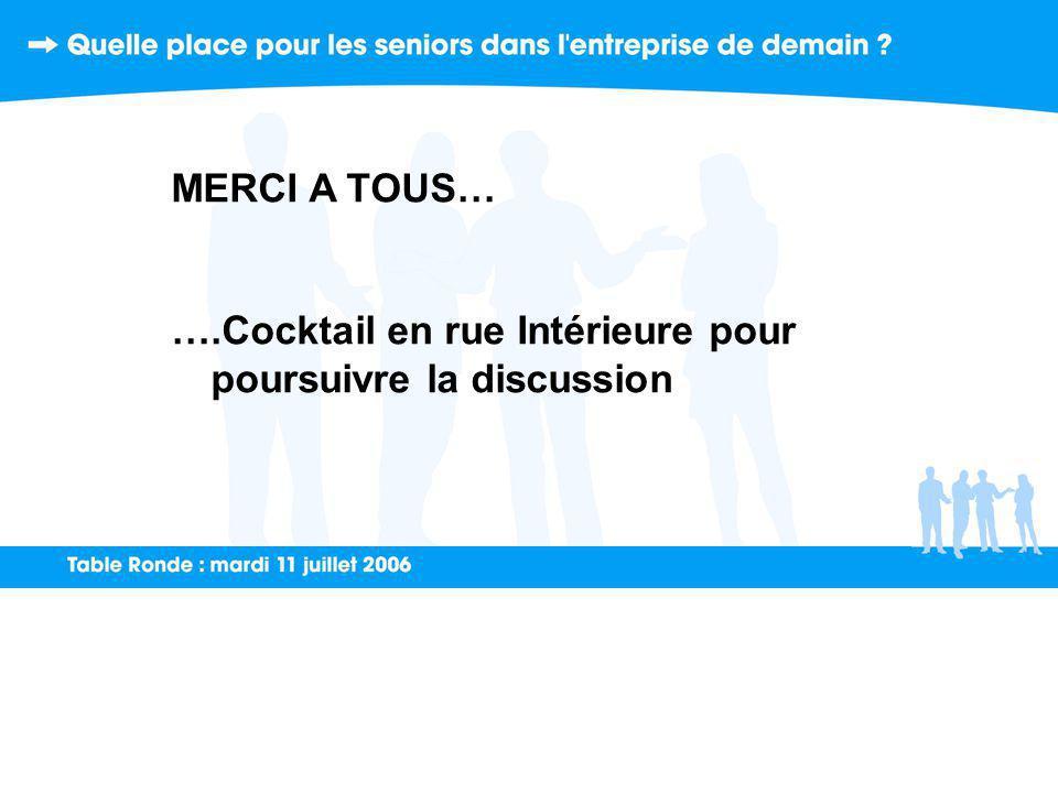 MERCI A TOUS… ….Cocktail en rue Intérieure pour poursuivre la discussion