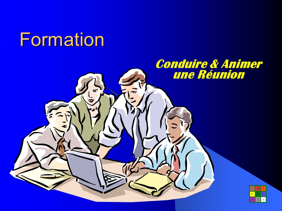 PENDANT la réunion Commencez à lheure prévue Maintenez le groupe dans le déroulement initial et les objectifs Prenez des décisions, ne vous contentez pas de donner des points de vue Résumez et faites un compte rendu des décisions Maintenez limplication des participants en maîtrisant les fortes personnalités