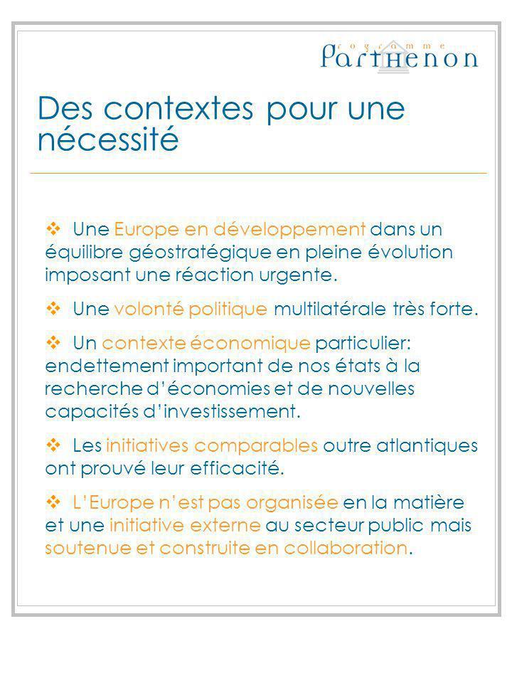 Des contextes pour une nécessité Une Europe en développement dans un équilibre géostratégique en pleine évolution imposant une réaction urgente. Une v