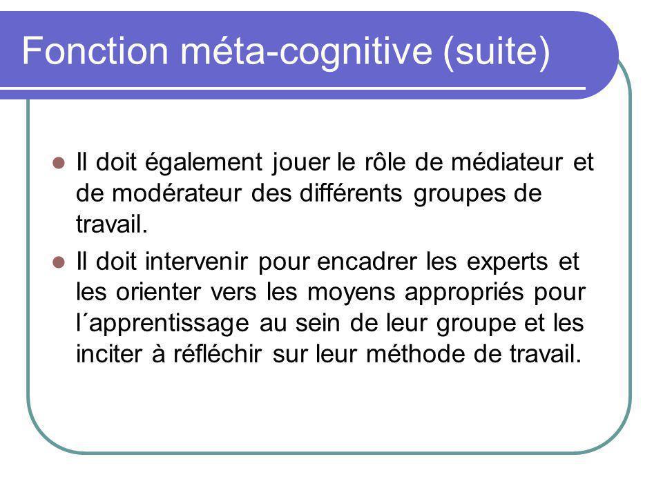 d) Fonction évaluation Le tuteur doit aussi participer aux évaluations de façon régulière.