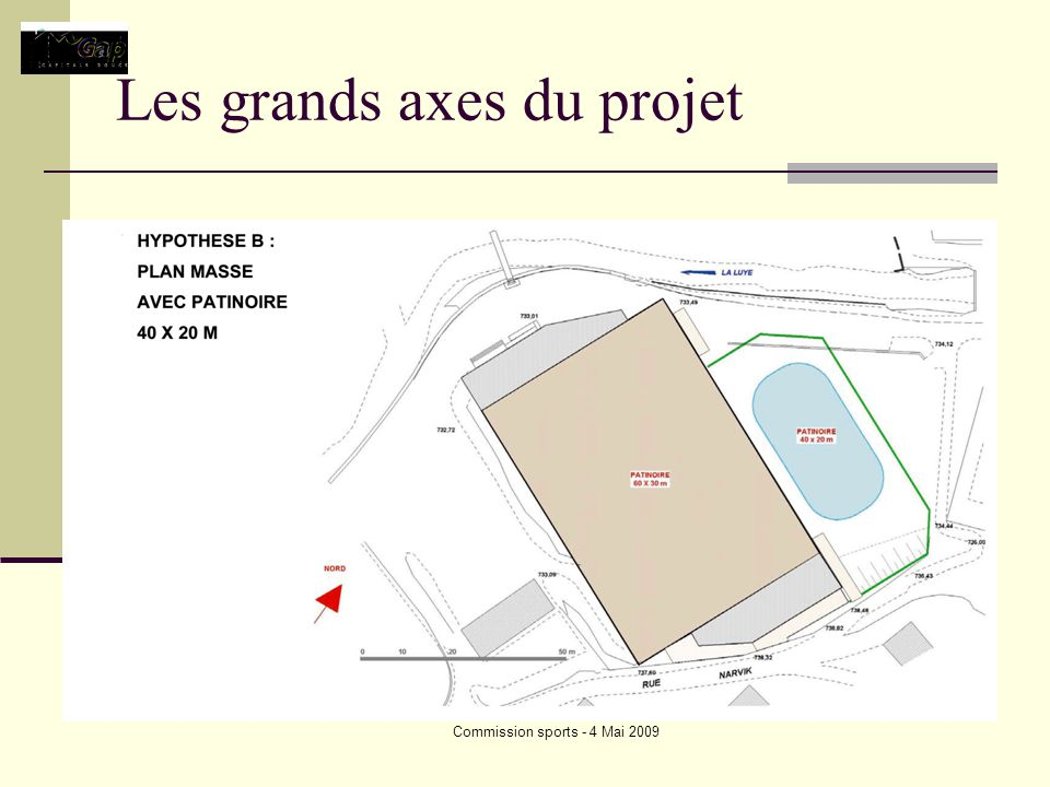 Commission sports - 4 Mai 2009 Les grands axes du projet