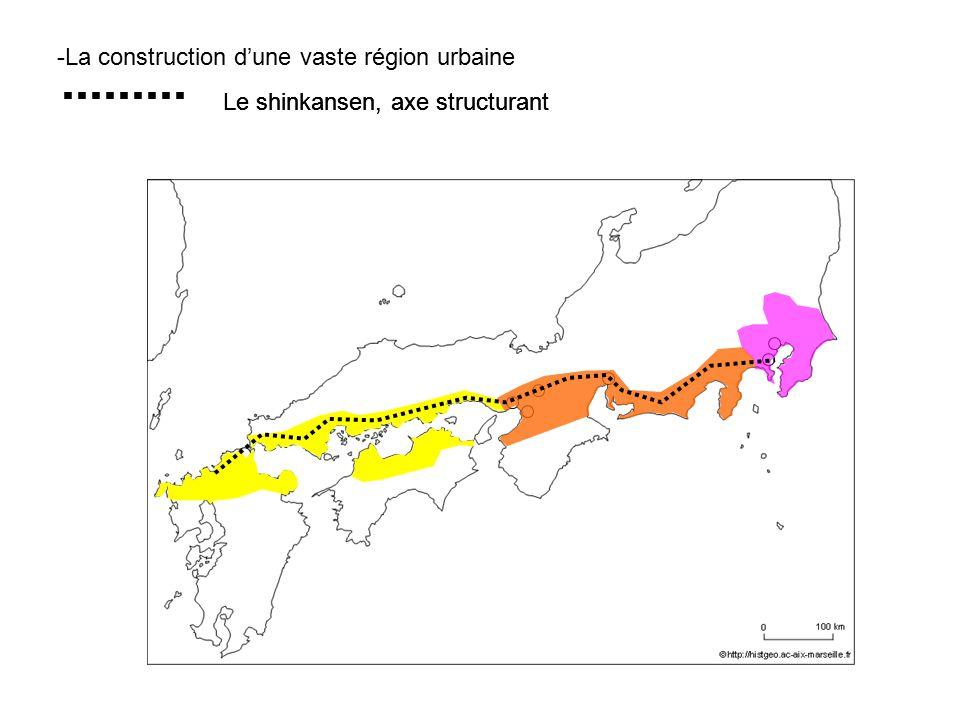 -La construction dune vaste région urbaine Le shinkansen, axe structurant