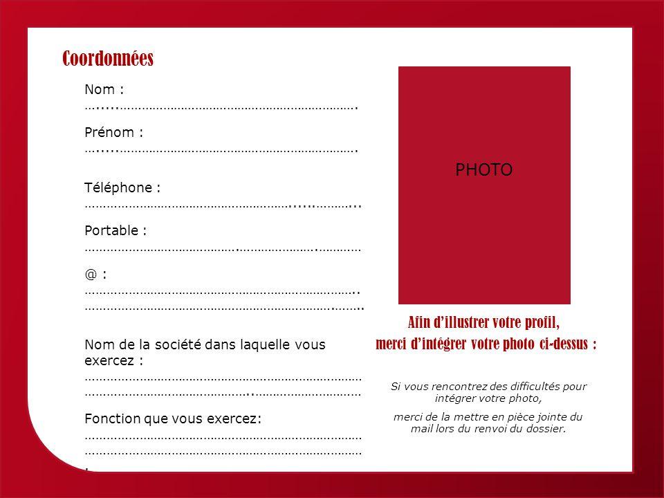 Femmes économiques de Provence Alpes Côte dAzur Coordonnées Nom : ….....………………………………………………………….