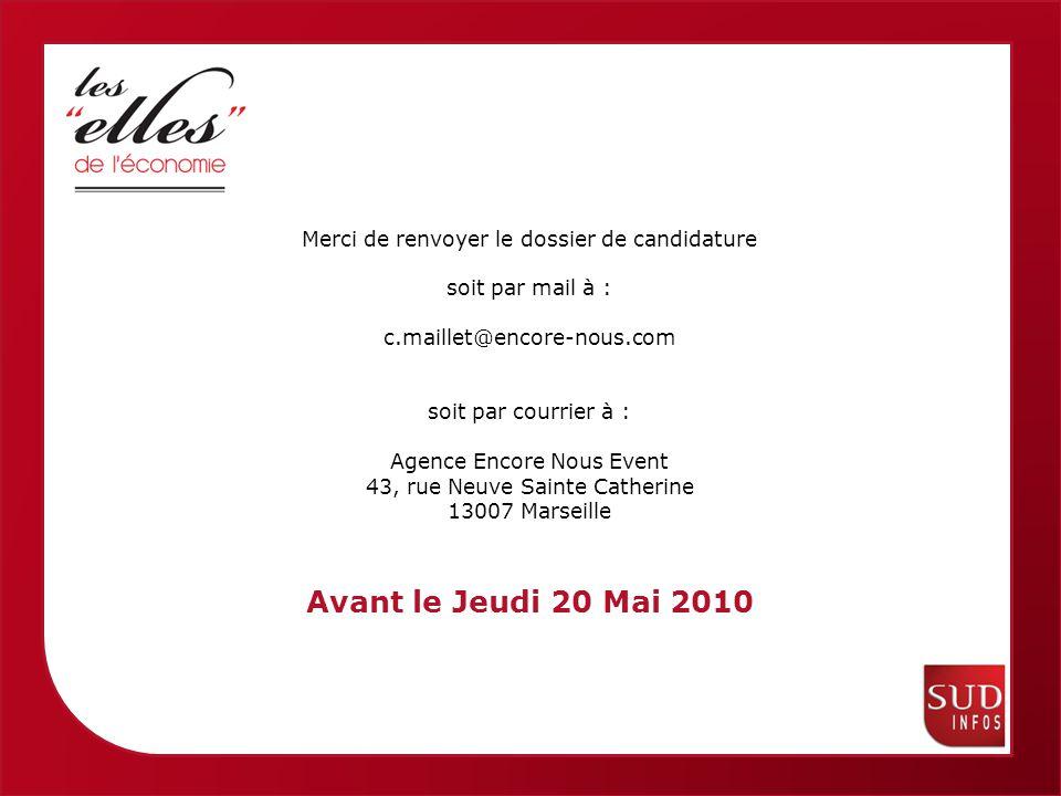 Femmes économiques de Provence Alpes Côte dAzur Sud Infos vous remercie pour votre soutien et votre participation à la remise de Prix :