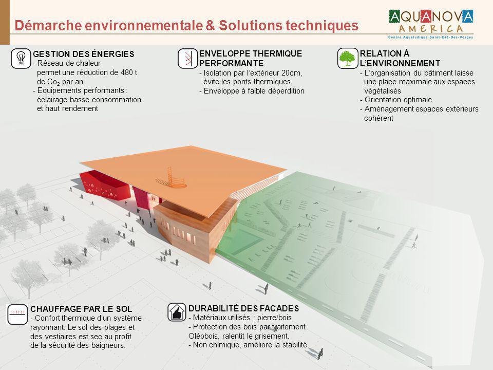 Démarche environnementale & Solutions techniques RELATION À LENVIRONNEMENT - Lorganisation du bâtiment laisse une place maximale aux espaces végétalis