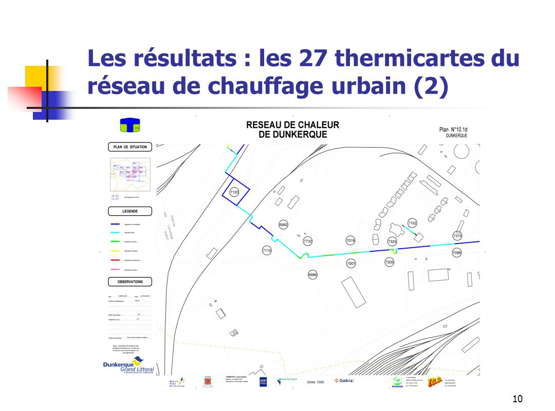 10 Les résultats : les 27 thermicartes du réseau de chauffage urbain (2)