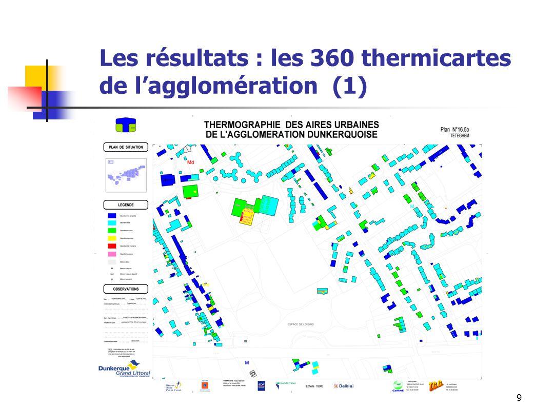 9 Les résultats : les 360 thermicartes de lagglomération (1)