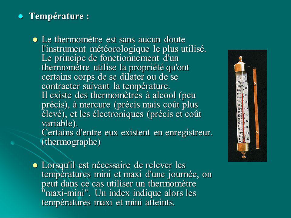 Hygromètrie : Hygromètrie : L humidité est un élément important pour caractériser l état de l atmosphère.