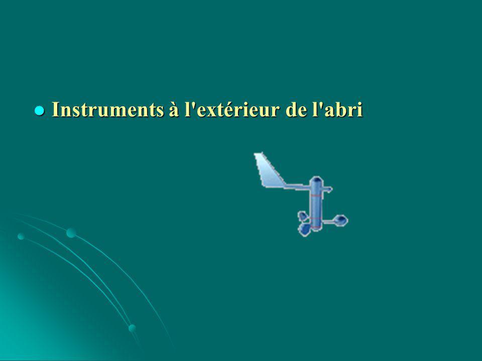 Mesure du vent : Mesure du vent : La girouette est l instrument qui permet de déterminer la direction du vent.